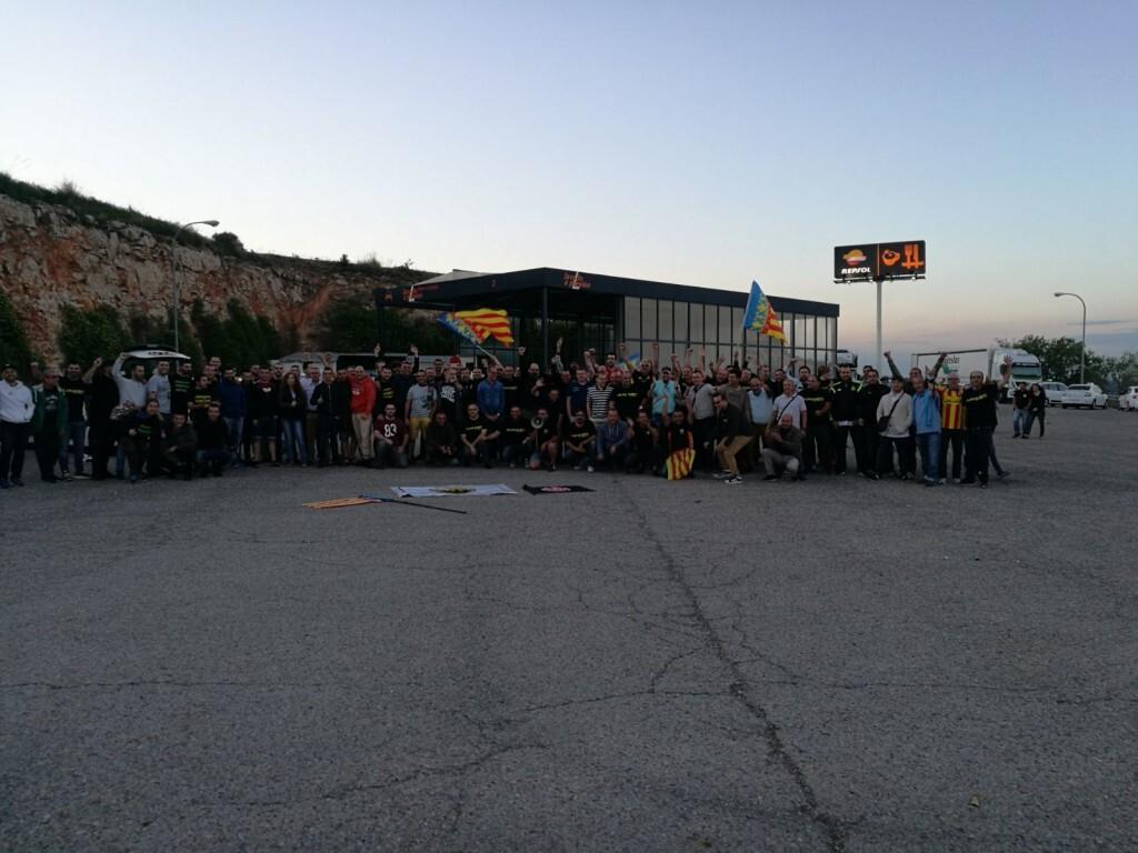 Los taxistas valencianos se unen a la huelga en Madrid (1)