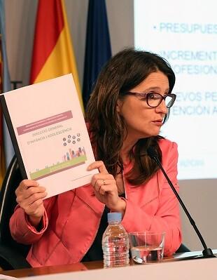 Mónica Oltra, vicepresidencia y Conselleria de Igualdad y Políticas Inclusivas.