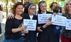 Por la libertad de enseñanza manifestación en Valencia de educación concertada con la supresión de conciertos 20170506_172849 (204)