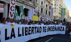 Por la libertad de enseñanza manifestación en Valencia de educación concertada con la supresión de conciertos 20170506_172849 (321)
