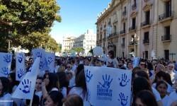 Por la libertad de enseñanza manifestación en Valencia de educación concertada con la supresión de conciertos 20170506_172849 (36)