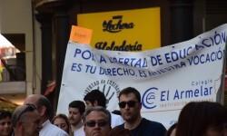 Por la libertad de enseñanza manifestación en Valencia de educación concertada con la supresión de conciertos 20170506_172849 (422)