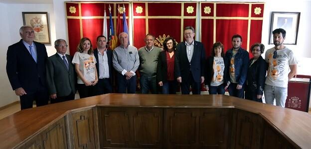 Puig ha realitzat una visita intitucional a Vallada, un dels municipis amb major endeutament públic d'Espanya.