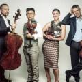 Quatuor Diotima actua al Palau de la Música dins del festival Ensems 2017.