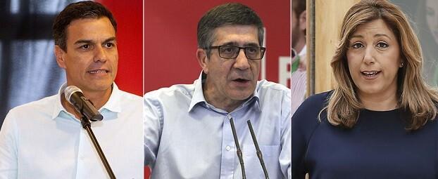 Sánchez, López y Díaz tendrán hot su debate por el control del PSOE.
