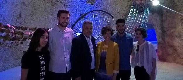 """Se ha inaugurado la obra """"Aqua Viva"""" de Arquitecturas efímeras en el Museo de Aguas de Alicante."""