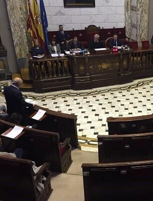 Sesión de Pleno en el Ayuntamiento.