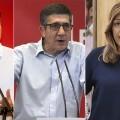 Susana Díaz, Pedro Sánchez y Patxi López se enfrentan en un único debate por la Secretaría General del PSOE.