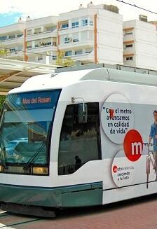 Tranvía de Metrovalencia.
