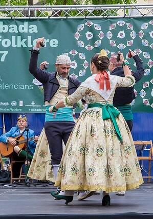 Trobada de Folklore en los barrios de la ciudad de València.