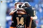 Victoria del Valencia CF ante el Espanyol (0-1). (Foto-Lázaro de la Peña).