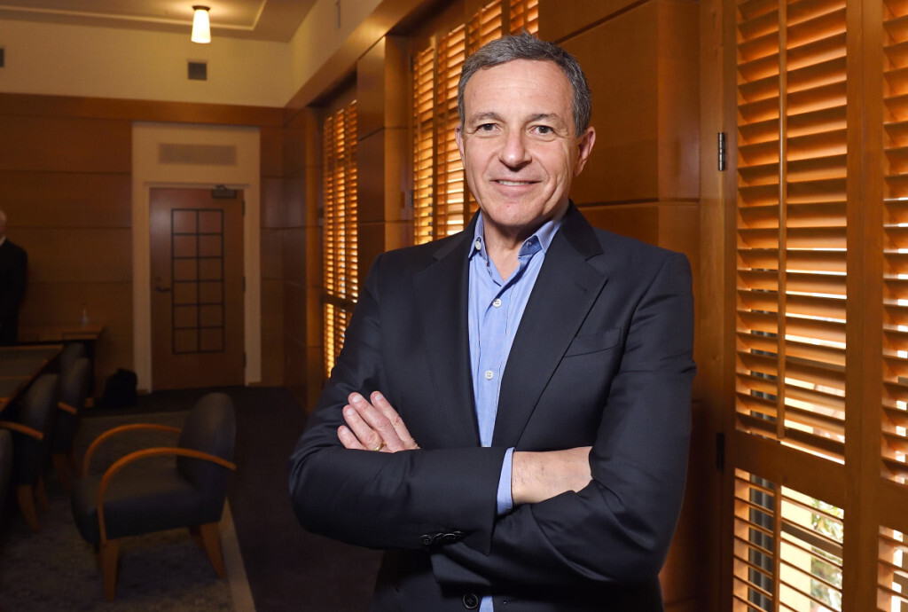 Bob Iger, chairman and chief executive officer of The Walt Disney Company, poses in a conference room before speaking to members of the media about bringing NFL football back to the Los Angeles area, Thursday, Dec. 10, 2015, in Burbank, Calif. (AP Photo/Mark J. Terrill)