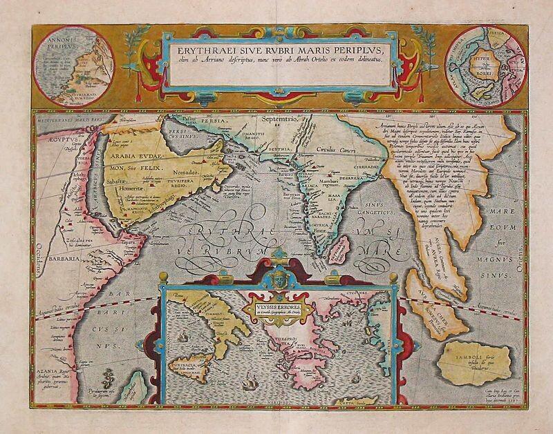 Mapa de Abraham Ortelius, Ámsterdam 1597: en la esquina superior derecha dice Hyper Borei y muestra un continente que ocupa toda el área polar.