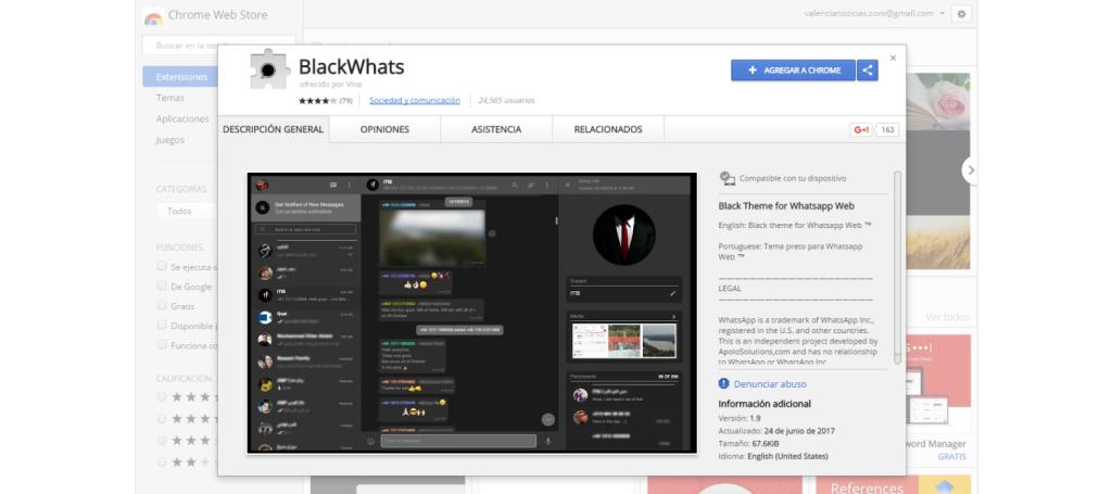 BlackWhats Chrome Web Store