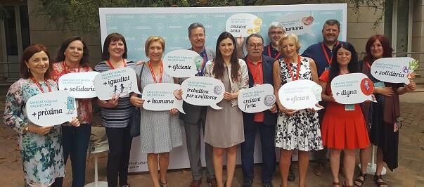 Carmen Montón, inauguró el acto 'Sanitat Pública Valenciana, creixent forta i sana'.