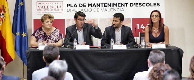 De izquierda a derecha, Mercedes Berenguer, Jorge Rodríguez, Vicent Marzà y Mª Josep Amigó.