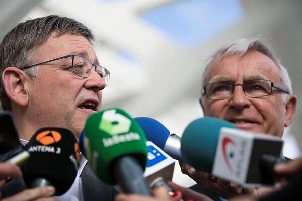 Desbloqueo de la T-2 con una inversión de 50 millones para el tramo comprendido entre la calle Alicante y el Oceanogràfic. (Ximo Puig y Joan Ribó).