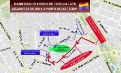El Ayuntamiento organiza un dispositivo de tráfico con motivo de la manifestación festiva del Orgullo LGTBI.