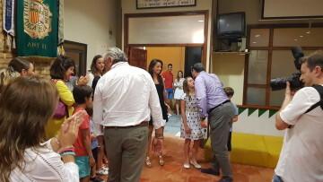 Falleras Mayores de la Comisión Falla Plaça de la Mercé para el ejercicio 2017 18 Mireia Cuñat y Begoña Sanchis (137)