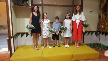 Falleras Mayores de la Comisión Falla Plaça de la Mercé para el ejercicio 2017 18 Mireia Cuñat y Begoña Sanchis (164)