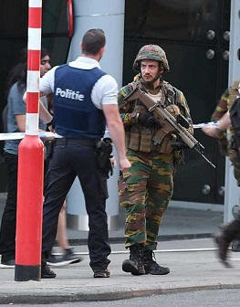 Fuerzas Militares belgas controlan la zona.