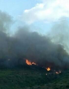 Imagen del incendio declarado en la Sierra Calderona.