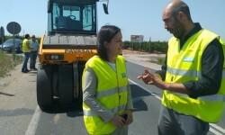 La Diputación apuesta por la innovación con el uso de asfaltos más eficientes y ecológicos en las carreteras.
