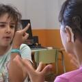 Los alumnos del Colegio Luis Fortich son bilingües en lenguaje de signos.