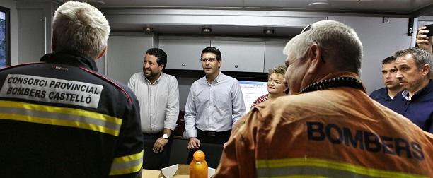 Los presidentes de las Diputaciones de Valencia y Castellón, Jorge Rodríguez y Javier Moliner.