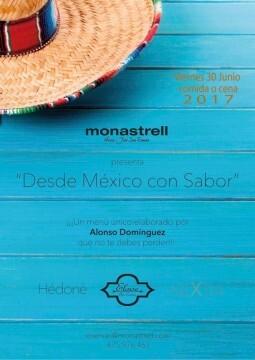 Menu Monastrell Desde Mexico con Sabor