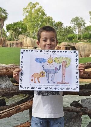 Noé Cervera Ganador concurso dibujo BIOPARC y LA FE.