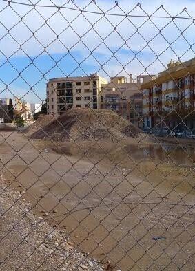 Obras en el Parque Lineal de Benimàmet.
