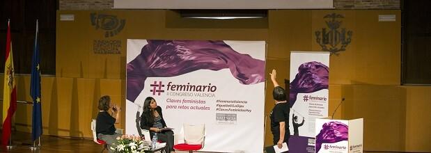 Pamela Urrutia y Stasa Zajovic en el II Feminario de la Diputación de Valencia.