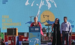 Pilar Moncho en la inauguración de la Fira de les Comarques.