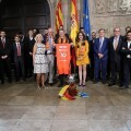 Puig recibe al Valencia Basket Club tras proclamarse campeón de la Liga Endesa de baloncesto.