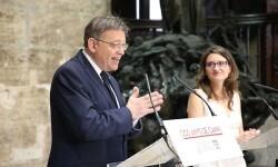 Puig y Oltra destacan que la gestión del Consell ha afianzado las bases de la reconstrucción económica y social en la Comunitat Valenciana.