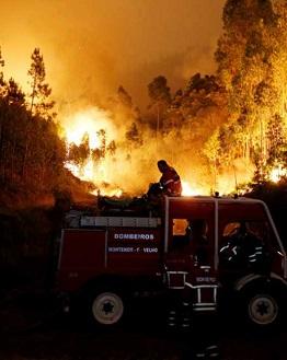 Una imagen del incendio.