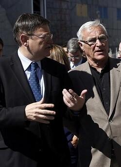 Ximo Puig y Joan Ribó.