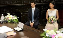 1 Guillermo y Yein primera boda Colegio Notarial