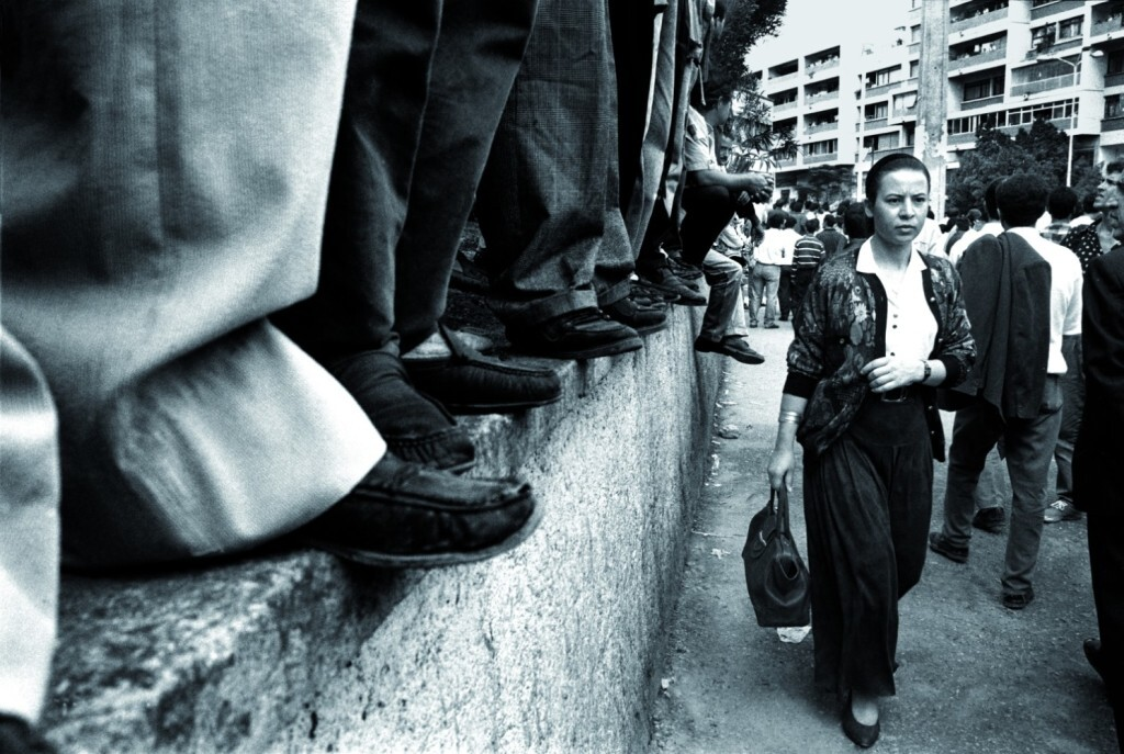 Demonstration for the liberation of singer Matoub Lounes, Tizi-Ouzou, Kabylia, Algeria, October 1994