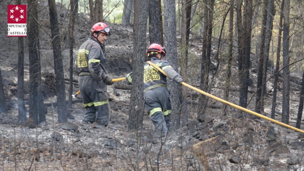 Declaran controlado el incendio de La Calderona en el que trabajan hoy 46 bomberos coordinados por el Consorcio de la Diputación