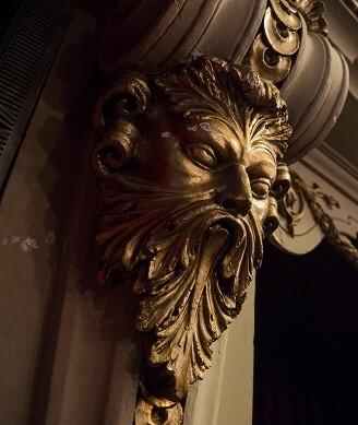 Detalle del teatro.