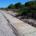 El Ayuntamiento inicia la constraucción de una pasarela de madera para facilitar la accesibilidad al vecindario de la Devesa.