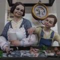 El Salón de Cristal exhibirá hasta el viernes los ninots indultados de las Fallas de este año.