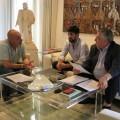 El diputat de Cultura, Xavier Rius, ha mantingut una reunió amb el president de Lo Rat Penat, Enric Esteve, i Vicent Boluda.