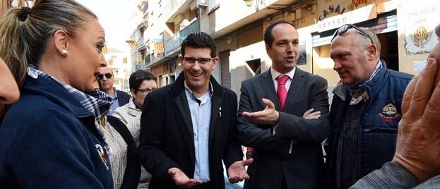 El presidente de la Diputación, Jorge Rodríguez, junto al alcalde Guillermo Luján en una visita reciente a Aldaia.