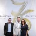 Glòria Tello presenta a Ramón Tébar como nuevo director titular de la Orquesta de València.