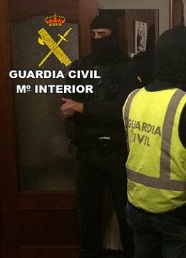 La Guardia Civil detiene a un miembro de DAESH. terrorista.