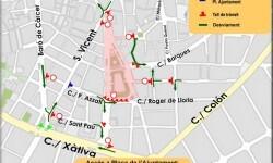 La plaza del Ayuntamiento acoge este fin de semana el correfoc de la Gran Fira de València.