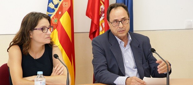 Mónica Oltra y Vicent Soler.